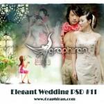 دانلود فون psd عکس عروس و داماد با طراحی خاص شماره ۱۱