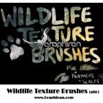 براش تکسچر حیات وحش برای فتوشاپ Wildlife Texture Brush