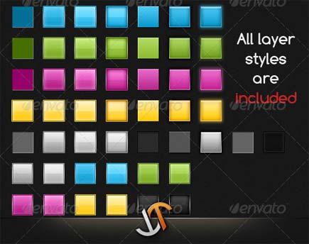 دانلود عناصر وب لایه باز در 5 رنگ