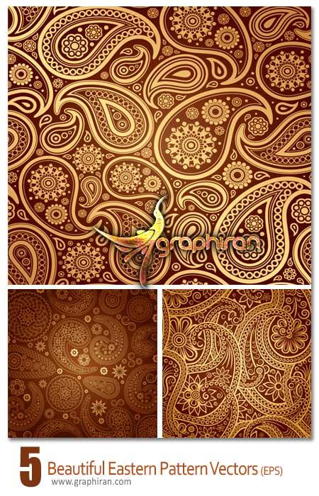 دانلود وکتور طرح های سنتی و بته جقه – Eastern Patterns