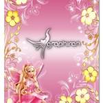 دانلود قاب عکس کودکانه برای دخترها با عکس باربی شماره ۳
