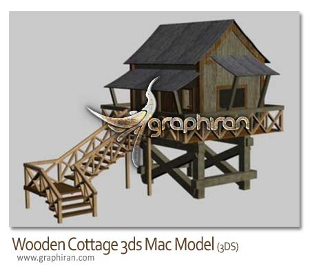 دانلود آبجکت تری دی مکس کلبه چوبی