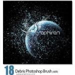 دانلود براش ذرات خاک و شن برای فتوشاپ – Debris Photoshop Brush