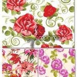 دانلود وکتور پترن و الگوهای گل فتوشاپ – Flower Pattern Vector