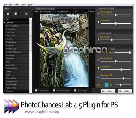 دانلود PhotoChances Lab 4.5 - مجموعه ای از افکت ها برای فتوشاپ