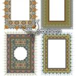 دانلود وکتور طرح های اسلیمی و تذهیب برای طراحی سنتی ایرانی
