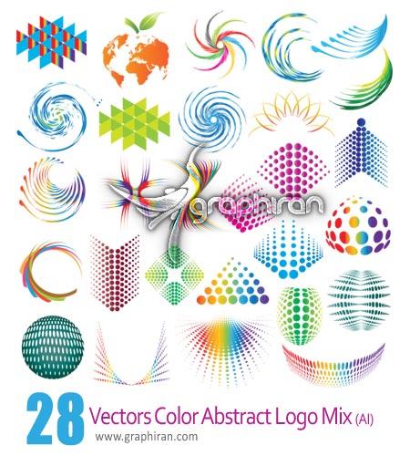 vectors color abstract logo mix. دانلود آرم و لوگوهای فانتزی و رنگی برای ایلوستراتور
