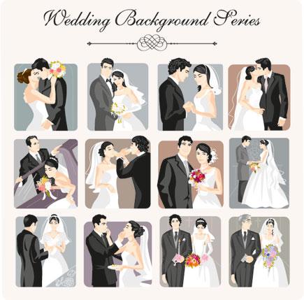 تصاویر پس زمینه وکتور ازدواج