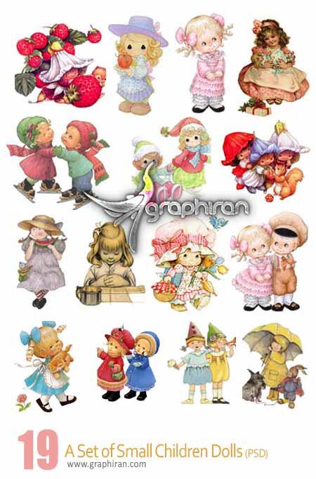 دانلود مجموعه تصاویر لایه باز عروسک و اسباب بازی کودکان