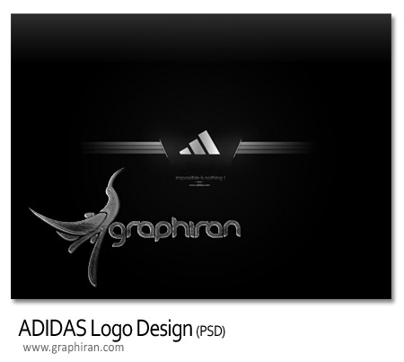 والپیپر لایه باز لوگوی آدیداس - ADIDAS Logo PSD