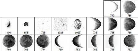 دانلود براش ماه و ستاره برای فتوشاپ