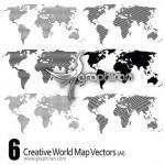 تصاویر وکتور خلاقانه از نقشه جهان – Creative World Map Vector