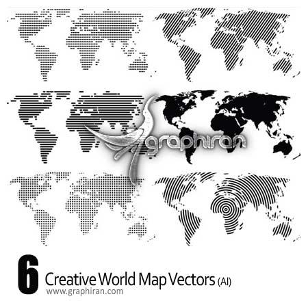تصاویر وکتور خلاقانه از نقشه جهان