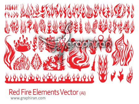 وکتور شعله های آتش زیبا - Fire Flame Vector