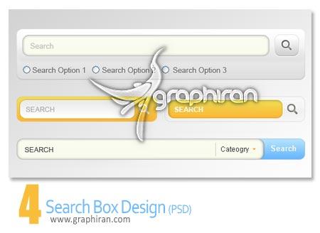 دانلود طرح پنل جستجو لایه باز - Search Box PSD