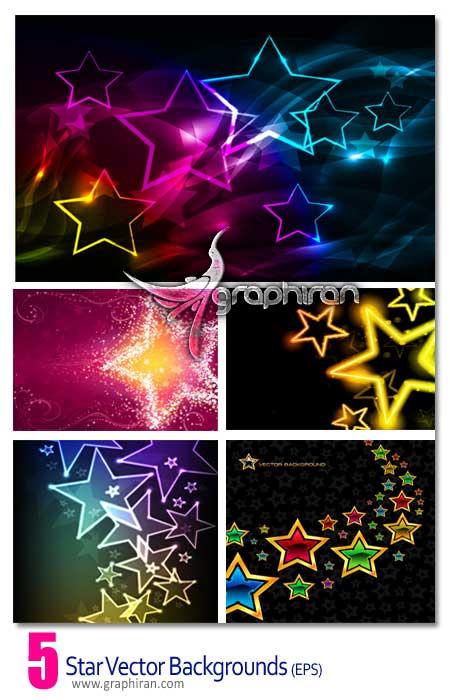 دانلود وکتورهای بک گراند با طرح ستاره های زیبا