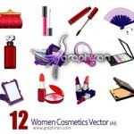 دانلود وکتور لوازم آرایشی بانوان – Women Cosmetics Vector