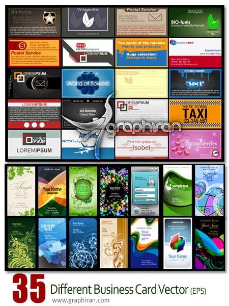 دانلود مجموعه کارت ویزیت وکتور برای انواع شغل ها