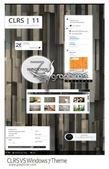 دانلود تم ویندوز 7 بسیار زیبا و مدرن CLRS VS