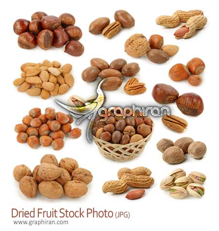 دانلود عکس استوک خشکبار - Dried Fruit Stock Photo