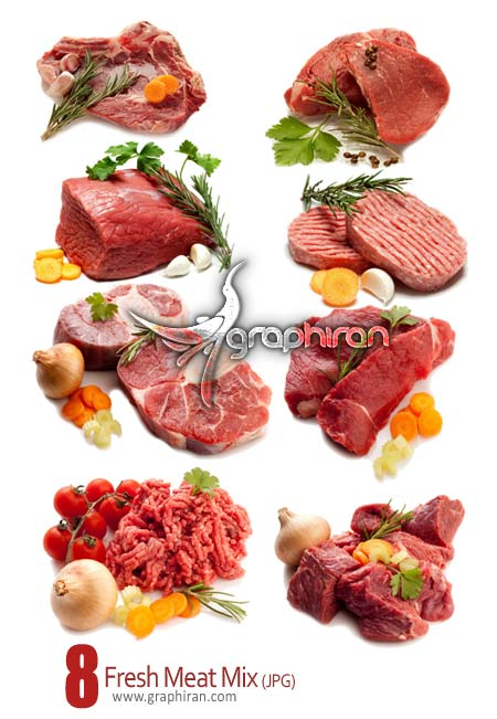 Fresh Meat Mix دانلود عکس شاتر استوک انواع گوشت   Meat Stock Photo