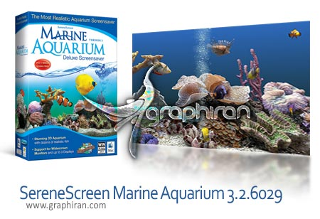SereneScreen Marine Aquarium 3.2.6029 دانلود اسکرین سیور آکورایوم دریایی زیبا Marine Aquarium 3.2.6