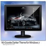 دانلود تم جدید و زیبا ویندوز ۷ – W7 Granite Darker Theme