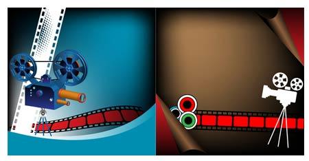 دانلود وکتور با موضوع سینما و فیلم برداری - Cinematic Vector