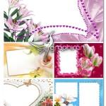 دانلود مجموعه فریم و قاب عکس رمانتیک و عاشقانه با تصاویر گل