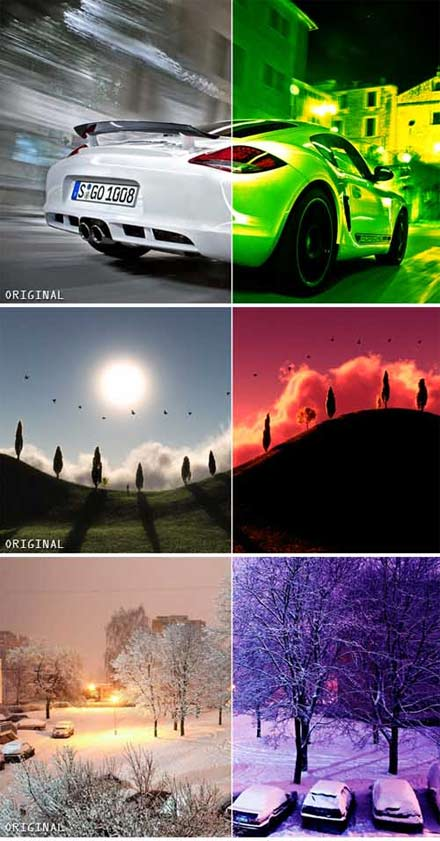 اکشن فتوشاپ افکت های رنگ حرفه ای - Full Colour Effects Action