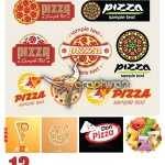 دانلود مجموعه وکتورهای خلاقانه از پیتزا – Pizza Vector