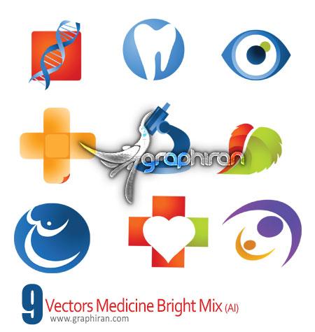 دانلود لوگوهای گرافیکی وکتور با موضوع پزشکی - Medicine Logo Vector