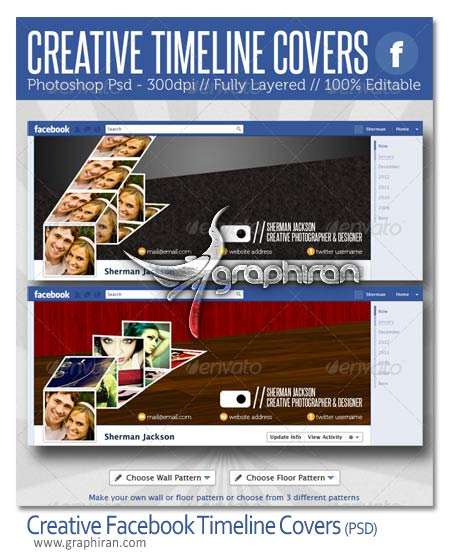 Creative Facebook Timeline Covers طرح PSD خلاقانه کاور فیس بوک   Facebook Creative Timeline Cover