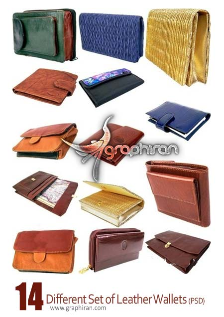 Different set of leather wallets