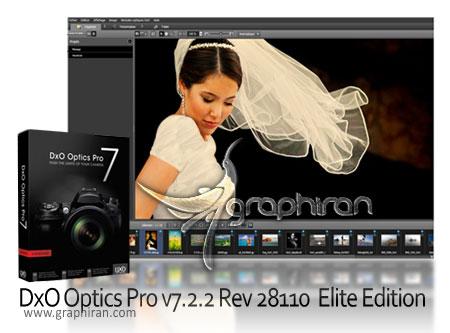 نرم افزار افزایش کیفیت تصاویر دوربین عکاسی DxO Optics Pro 9.5.2 Build 347