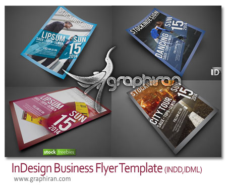 InDesign Business Flyer Template دانلود طرح آماده آگهی تبلیغاتی InDesign Business Flyer Template
