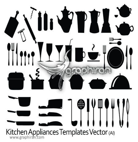 Kitchen Appliances Templates Vector