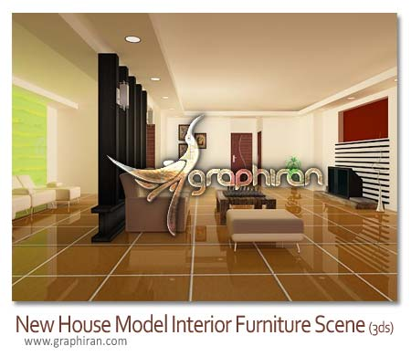 New house model interior furniture scene 3d model