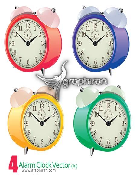 دانلود وکتور ساعت های زیبا - Alarm Clock Vector