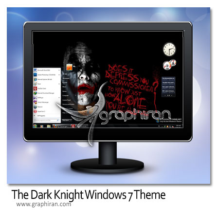 darkknight دانلود تم فیلم شوالیه تاریکی ویندوز 7   Dark Knight Theme