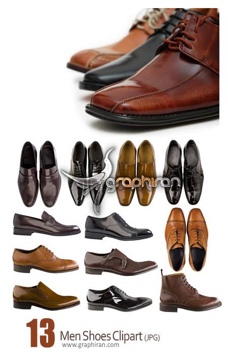 عکس استوک کفش چرم مردانه - Men Shoes Clipart