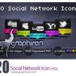 دانلود آیکون های لایه باز شبکه های اجتماعی در ۵ رنگ مختلف