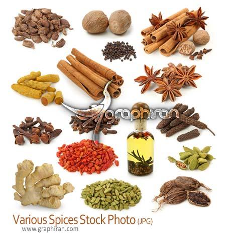 دانلود عکس استوک انواع ادویه و چاشنی - spice stock photo