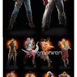 دانلود مجموعه مدل های تری دی مکس شخصیت های بازی Tekken – بخش دوم