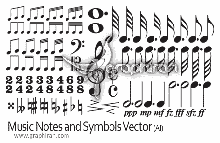 vectors music notes and symbols