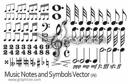 vectors music notes and symbols
