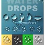 دانلود طرح لایه باز قطرات آب در فرمت های PSD و PNG