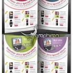 دانلود طرح گرافیکی و لایه باز اعلامیه تبلیغات تجاری در ۴ رنگ