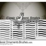 دانلود براش طرح های تزیینی کلاسیک فتوشاپ – Ornaments Brushes