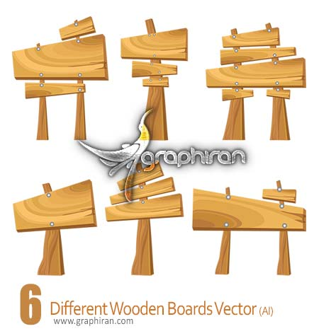 Different Wooden Boards Vector